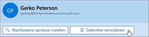 Gebruiker verwijderen