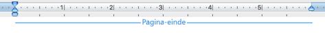Een pagina-einde op een lege pagina