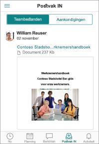 Tabblad Screenshot van postvak in
