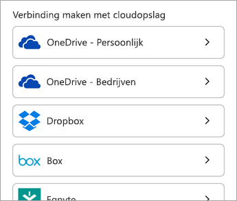 Kies een cloudservice.