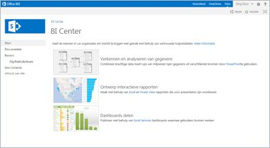 Sjabloon voor Business Intelligence-site
