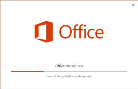 Het lijkt erop dat het installatieprogramma van Office bezig is om Office te installeren, maar het installeert alleen Skype voor Bedrijven.