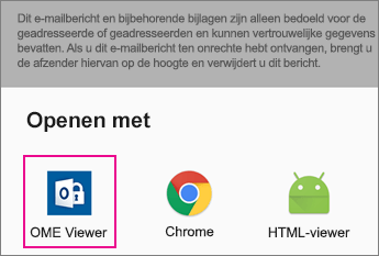 OME Viewer met Gmail voor Android 2