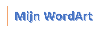 Voorbeeld van WordArt