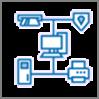 Pictogram van het netwerkdiagram