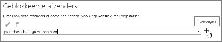 Blokkeren van een afzender in Outlook Web App