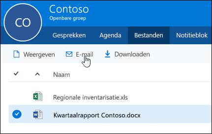 Selecteer een bestand om de knoppen voor weergeven, e-mailen of downloaden in te schakelen.