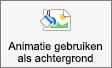 Toont de knop Animatie toepassen als achtergrond op het tabblad Afbeeldingsopmaak in PowerPoint voor Mac