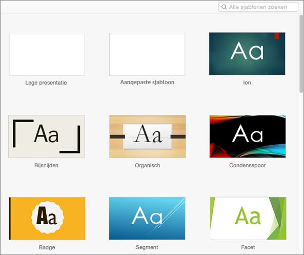 Sjablonen Gebruiken In PowerPoint Voor Mac