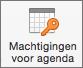 Knop Machtigingen voor agenda in Outlook 2016 voor Mac
