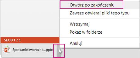 Otwieranie pliku zapisanego lokalnie