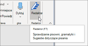 Wybierz pozycję Redaktor na karcie Narzędzia główne lub naciśnij klawisz F7, aby otworzyć okienko Redaktora.