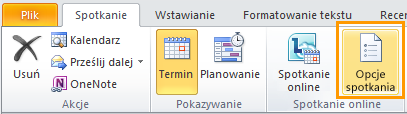 Obraz wstążki programu Outlook