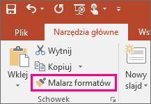 Przycisk Malarz formatów w programie PowerPoint