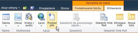 narzędzia do edycji