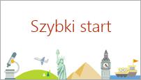 Szablon Szybki start w programie PowerPoint 2016 tworzy konspekt dotyczący wybranego tematu.