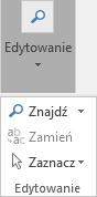 Wybierz formatowanie tekstu, a następnie edycji w celu otwarcia listy rozwijanej