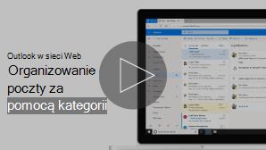 Obraz przedstawiający organizowanie wiadomości e-mail za pomocą funkcji wideo kategorii