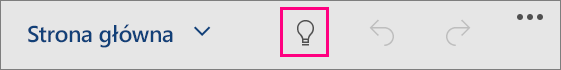 """Ikona """"Powiedz mi"""" w pakiecie Office dla systemu Windows 10 Mobile"""