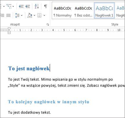 Style w programie Word