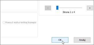 Kliknij przycisk OK, aby wydrukować