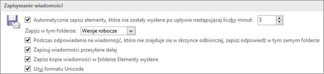 Zapisywanie elementów w folderze źródłowym