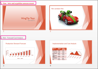 Wyświetlanie wszystkich slajdów w prezentacji