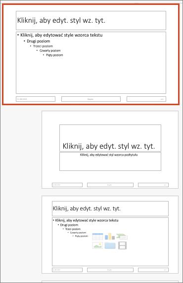 Wzorzec slajdów w programie PowerPoint dla komputerów Mac