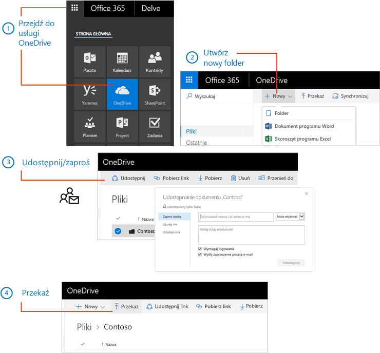 Utwórz i udostępnij folder w usłudze OneDrive