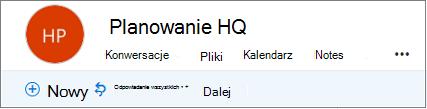 Jest to, jak wygląda nagłówków grup w programie Outlook w sieci web