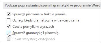 Pola wyboru dotyczące gramatyki