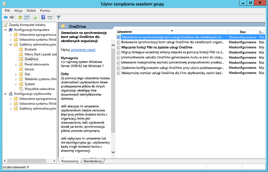 Zasady Konfiguracja komputera w Edytorze zarządzania zasadami grupy