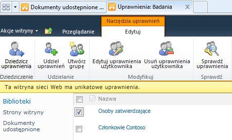Usuwanie uprawnień użytkownika