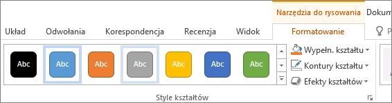 Grupa Style kształtów