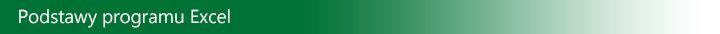 Podstawy programu Excel