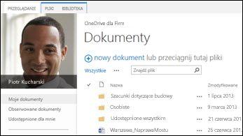 Usługa OneDrive dla Firm w programie SharePoint 2013