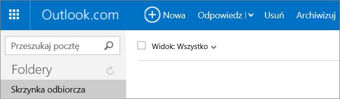 Obraz wstążki w usłudze Outlook.com