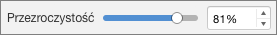 Suwak przezroczystości w programie PowerPoint dla komputerów Mac