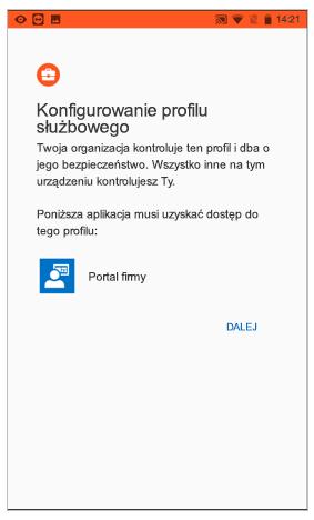 Konfigurowanie profilu służbowego