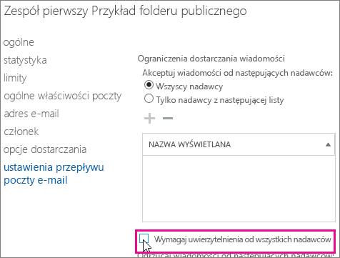 Ograniczenia dostarczania folderów publicznych ułatwiające rozwiązywanie problemu powodującego zwrócenie kodu błędu 5.7.135 powiadomienia o stanie dostarczenia