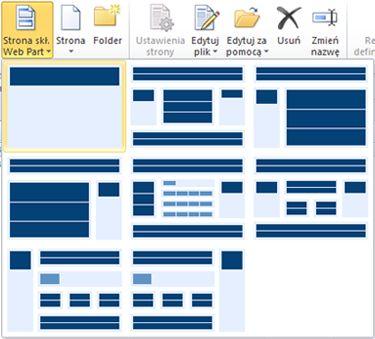 Dodawanie stron w programie SharePoint Designer 2010