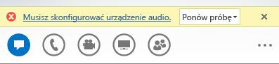 Zrzut ekranu: komunikat o błędzie