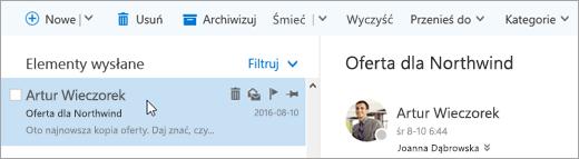 Zrzut ekranu przedstawiający pasek menu.