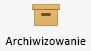 Przycisk Archiwizuj na wstążce programu Outlook dla komputerów Mac