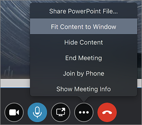 Zrzut ekranu przedstawiający opcję Dopasuj zawartość do okna
