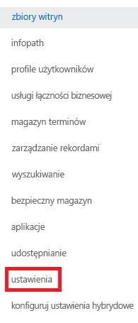 Zrzut ekranu przedstawiający okienko zadań Zbiory witryn