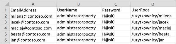 Przykładowy plik migracji dla systemu Courier IMAP