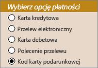 Przykładowe kontrolki przycisków radiowych
