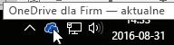 ikona paska zadań usługi OneDrive dla Firm