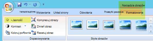 Na karcie Narzędzia obrazów ,Formatowanie w grupie Dopasowywanie wybierz pozycję Jasność